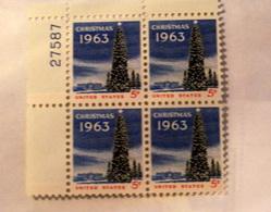 USA 1963 CHRISTMAS   BLOCK MNH** - Stati Uniti