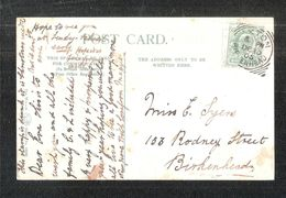 Oxton Birkenhead Square Circle 1905 To Miss Syers 153 Rodney Street Birkenhead - Other