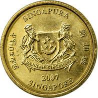 Monnaie, Singapour, 5 Cents, 2007, Singapore Mint, SUP, Aluminum-Bronze, KM:99 - Singapour