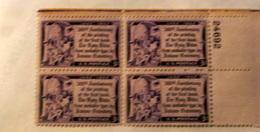 USA 1952 GUTTEMBERG  BLOCK MNH** - Stati Uniti