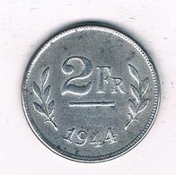 2 FRANC 1944 BELGIE /2510/ - 1934-1945: Leopold III