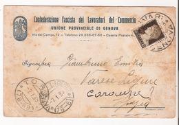 Confederazione Fascista Dei Lavoratori Del Commercio, Cartolina Di Invito, 1939 - Commercio