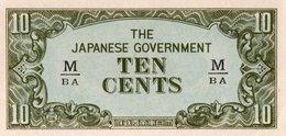 MALAYA JAPANESE GOV,=N/D   10  CENTS    P-M-3   UNC - Billets