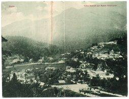ROMANIA/ROUMANIE - SINAIA VEDERE GENERALA / DOUBLE POSTCARD - 1900 - Romania