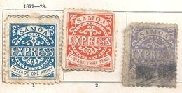 Samoa Express - 3 Stück           Ca. 1870 - Samoa Americano