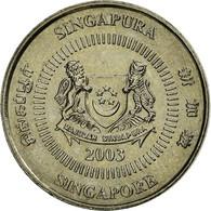 Monnaie, Singapour, 10 Cents, 2003, Singapore Mint, TTB+, Copper-nickel, KM:100 - Singapour