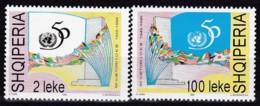 Albanien, 1995,  Michel 2565/66, 50 Jahre Vereinte Nationen (UNO). MNH ** - Albanie