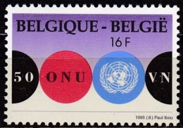 Belgien, 1995, Michel : 2653, 50 Jahre Vereinte Nationen (UNO). MNH ** - Belgien