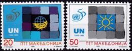 Mazedonien, 1995, Michel : 53/54, 50 Jahre Vereinte Nationen (UNO). MNH ** - Mazedonien