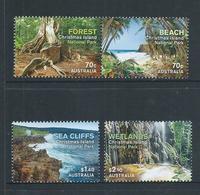 Christmas Island 2014 National Parks Set Of 4 MNH - Christmas Island