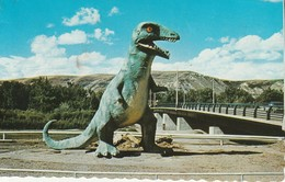 Model Of Tyrannosaurus Rex On Display At Dinosaur Valley Bridge, Drumheller, Alberta - Alberta
