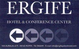ITALIA KEY HOTEL  Ergife Hotel & Conference Center - ROMA - Cartes D'hotel