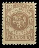 MEMEL 1923 Nr 141 Postfrisch X8878A6 - Memel (Klaïpeda)