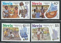 "Nevis    ""Christmas Toys""     Set   SC# 556-59   MNH - St.Kitts-et-Nevis ( 1983-...)"