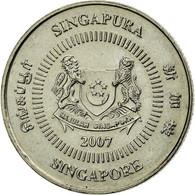 Monnaie, Singapour, 10 Cents, 2007, Singapore Mint, TTB+, Copper-nickel, KM:100 - Singapour
