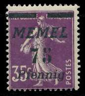 MEMEL 1922 Nr 62 Postfrisch X887B42 - Memel (Klaïpeda)