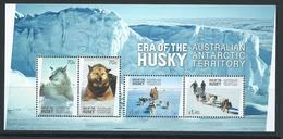 Australian Antarctic Territory 2014 Husky Dog Era Miniature Sheet MNH - Unused Stamps