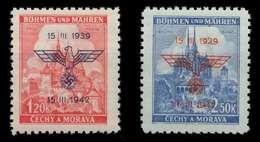 BÖHMEN MÄHREN 1942 Nr 83-84 Postfrisch X889DB2 - Neufs