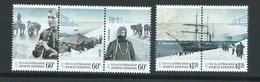 Australian Antarctic Territory 2012 Expedition Anniversary  #2 Arrival & Exploration Set 5 - Strip Of 3 & Pair - MNH - Australian Antarctic Territory (AAT)