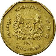 Monnaie, Singapour, Dollar, 1997, Singapore Mint, TB+, Aluminum-Bronze, KM:103 - Singapour