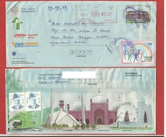 Pakistan -Used Envelope Freaking Machine Special Date 12.12.12 (Quaids Residency Ziarat Old Envelope)Breast Cancer Stamp - Pakistan