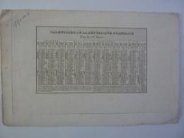 ALMANACH 1793 CALENDRIER REPUBLICAIN  Allégorie Les Droits De L'homme (Couché Fils Sculp & Hacq Scrips)  Chem 3-39 - Calendriers