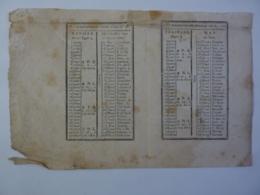ALMANACH 1802 CALENDRIER REPUBLICAIN  L'AN X     Chem 3-40 - Calendriers