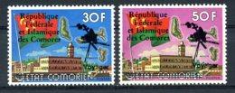 Comoros, Comores, 1978, Voyager, Jupiter, Saturnus, Space, MNH Overprint, Michel 452-453 - Comores (1975-...)