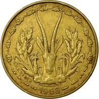 Monnaie, West African States, 5 Francs, 1968, TTB, Aluminum-Nickel-Bronze, KM:2a - Côte-d'Ivoire