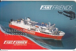 GREECE - Fast Ferries Charge Card(name At Centre), Used - Cartes D'hotel