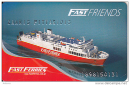 GREECE - Fast Ferries Charge Card(name At Top), Used - Cartes D'hotel