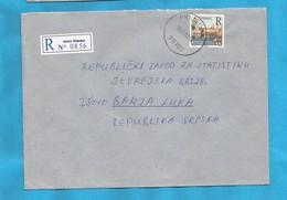 2000  PRIJEDOR  79101   RECCO BRIEF INTERESSANT BOSNIA REPUBLIKA SRPSKA -R- TREBINJE - Bosnie-Herzegovine