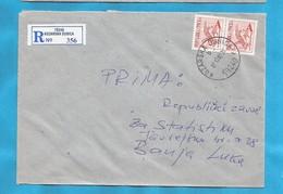 2000  KOZARSKA DUBICA  79240    RECCO BRIEF INTERESSANT BOSNIA REPUBLIKA SRPSKA  2 X -A- RELIGION - Bosnie-Herzegovine