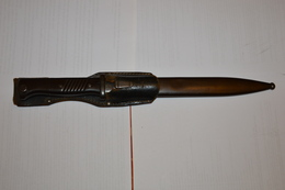 Baïonnette Allemande 98K Mauser 1939 WW2 Complète Et Porte-fourreau - Armes Blanches