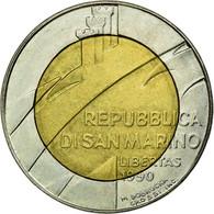 Monnaie, San Marino, 500 Lire, 1990, Rome, TTB, Bi-Metallic, KM:256 - Saint-Marin
