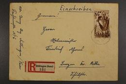 Saarland, MiNr. 224 Auf EBF Ab Dillingen Nach Bergen/Celle - 1957-59 Fédération