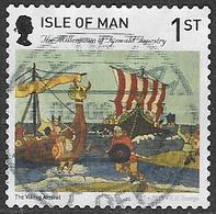 Isle Of Man 2015 Tynwald Tapestry 1st Type 2 Self Adhesive Good/fine Used [39/32036/ND] - Isle Of Man