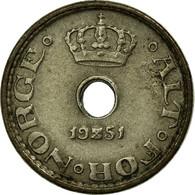 Monnaie, Norvège, Haakon VII, 10 Öre, 1951, TTB, Copper-nickel, KM:383 - Norvège