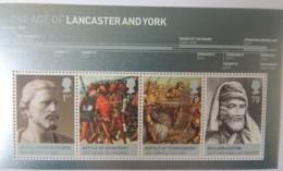 Great Britain 2008 - M/s Lancaster And York U/m Royalty Glyn Dwr Battle Agincourt Tewksbury William Caxton - Unused Stamps