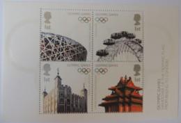 Great Britain 2008 - M/s Olympic Flag Handover U/m Tower Of London Eye - Unused Stamps
