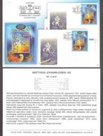 Estonia 2007 Sheet Mi BL 30 Presentation Card (est) 150 Anniv Folklore Collector, Clergyman M.J.Eisen Publish 200 Books - Estland