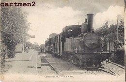 CHERCHELL LA GARE TRAIN LOCOMOTIVE STATION BAHNHOF ALGERIE - Algerije