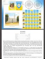 Estonia 2007 Stamp Presentation Card Viljandi City Coat Of Arms (germ) Mi597 - Estland