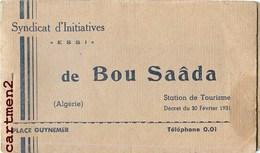 BOU-SAADA CARNET DE 10 VIGNETTES TIMBRES SYNDICAT D'INITIATIVES PHILATELIE - Algerien (1924-1962)