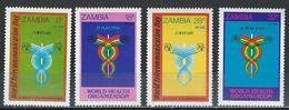 Zambia. Scott # 236-39 MNH. Telecommunications. Joint Issue With Brunei 1981 - Emissions Communes
