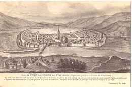 Vue De Pont Sur Yonne Au XVII E Siècle - Pont Sur Yonne