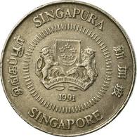 Monnaie, Singapour, 10 Cents, 1991, British Royal Mint, TB+, Copper-nickel - Singapour