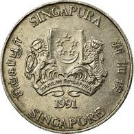 Monnaie, Singapour, 20 Cents, 1991, British Royal Mint, TB+, Copper-nickel - Singapour