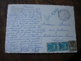 Lettre Taxee 3 Timbre Taxe  2 F  Et 20 F Gerbe Gerbes - Marcophilie (Lettres)