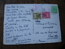 Lettre Taxee 2 Timbre Taxe  30 F  Et 5 F Gerbe Gerbes - Marcophilie (Lettres)
